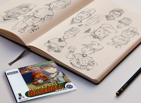 Backyard Baseball 2001 Character Design by OneMillionMonsters