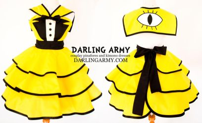 Sailor Bill Cipher Gravity Cosplay Pinafore by DarlingArmy