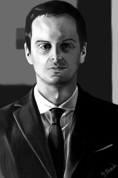 Jim Moriarty by BloodyButterfly-wp
