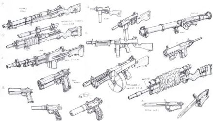 US weapons 1 1 by TugoDoomER