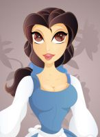 Disney, Belle closeup by yvaine2010