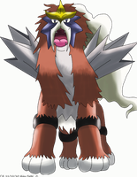 Shiny Entei by Phatmon