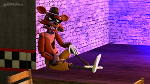 Boss Foxy Chillin (SFM Wallpaper WIP) by gold94chica