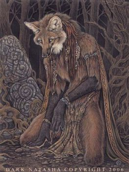 Elementalist Maned Wolf by darknatasha