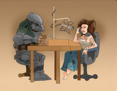 Conversation With The Predator by FootToons