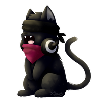 a really bad kitty by Thy-xin
