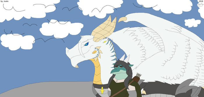 Bubbles and  Brigitha by JouksTheDragon