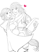 Valkyon and Gardienne - Eldarya WIP by Chalolly