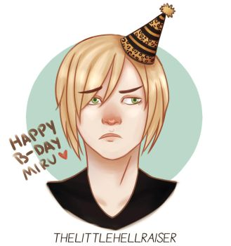 Yurio wishes u a happy b-day! by TheLittleHellraiser