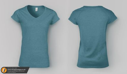 Women's V-Neck Tee Mock Up by TheApparelGuy