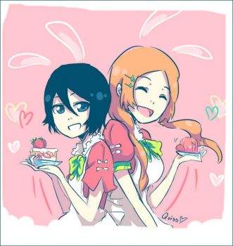 SPOILER: Rukia bunny cafe by Quiss