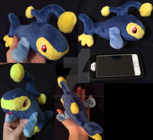 Tiny Lanturn Pokemon Plush! by GuardianEarthPlush