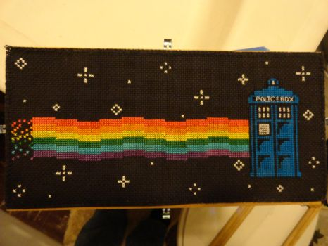Nyan Cat Tardis! by TeaBeeAdventures