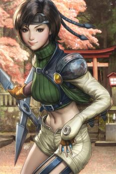 Yuffie Colorised by Artgerm