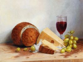 bread and grapes by bongoshock