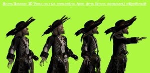 Undead Barbossa 3D Poser fer free by KomyFly