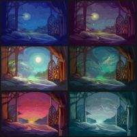 The Haunt - Bedroom Thumbnails by LiberLibelula