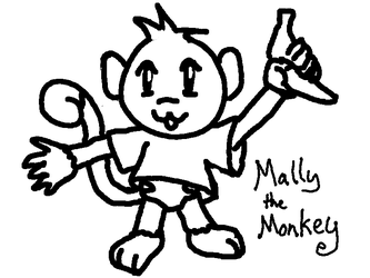 Mally the Monkey Doodle by darai