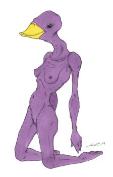 Purple duck by LauraMS88