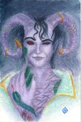 Mollymauk Tealeaf, portrait with darkness by Tindome-Art