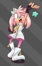 AMY ROSE off the hook by JamoART
