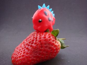 Mountaineering with a Strawberry Pink Dino by Carlsbergensis