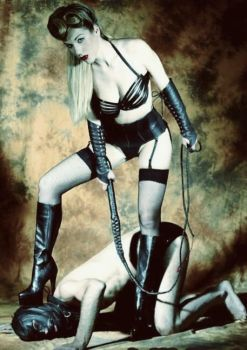Dominatrix with whip by Menkillers