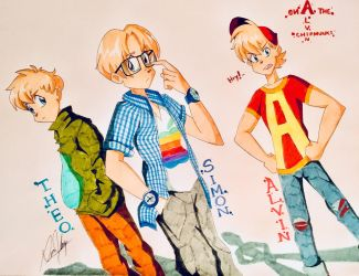 Alvin and the Chipmunks 90s/00s Style by Artfrog75
