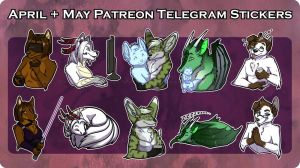 PTR - May/April Telegram Stickers by Temrin