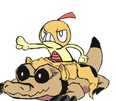 Scraggy and that one other pokemon- Sandile