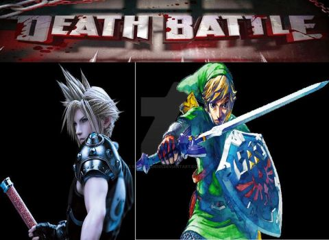Death-Battle Cloud VS Link fanart by Copeydude101