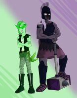 Steven Universe OC: Emeral and Obsidian by Pandapool