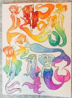 pride merms by garbagedeity