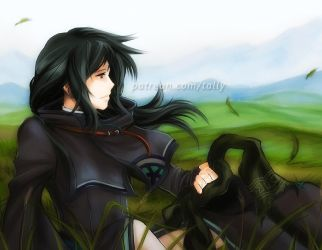 Soren, waiting by tallydraws