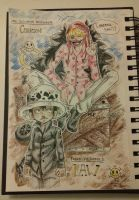 One piece - Law and Cora-san ! by shadawe