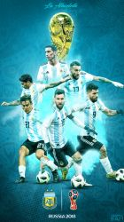 Argentina World Cup 2018 Phone Wallpaper by GraphicSamHD
