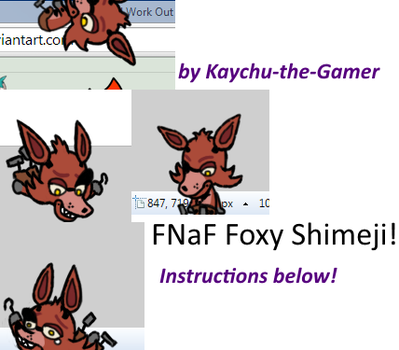 (Five Nights at Freddy's) Foxy Shimeji 'Preview' by Kaychu-The-Gamer