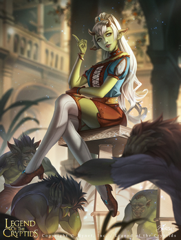 Legend of the Cryptids - Troll Princess Marnian by Zolaida