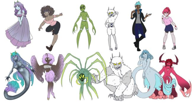 Goidbabies and Demon Forms by Chibi-Works