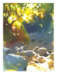 Angeles Creek Study by NathanFowkesArt