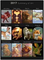 2017 Summary of Art by The-Hare