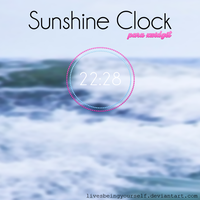 {Sunshine Clock} by LivesBeingYourself