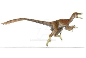 Velociraptor in color by Ahrkeath