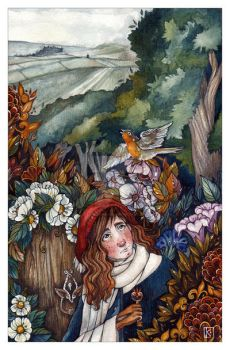 The Secret Garden-Book cover by Katharine-Sea