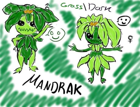 Fakemon Mandrak by xXMusic-MuseXx
