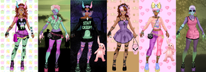 Pastel Zombies Dress up..... by LaKiraRee