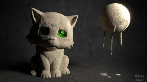 One Sad Kitten by MaryShan