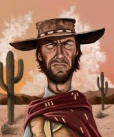 Clint Eastwood Caricature by fillengroovy