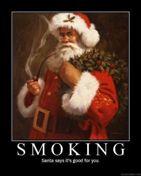 Santa on Smoking by morphiul