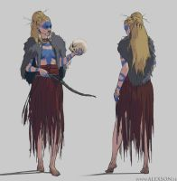 Young nordic witch concept art by alexson1